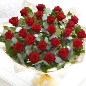 24 red rose bouquets